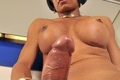 Elegant Tranny Brisa Plays with Her Sexy Lady Cock