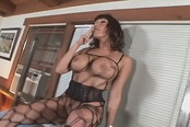 Hot Older Bitch In Fishnets Loves That Dick