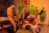 Hardcore Gay Orgy With Six Soldiers