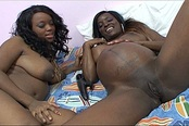Pregnant Black Slut Pleasured By Friend