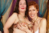 Lesbian Granny Yara Serviced by Sexy Rebecca
