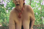 Outside A Horny Granny Tamara Moans Loud