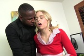 Pretty Petite Blonde Teen Takes A Black Cock