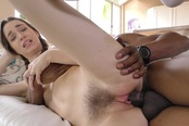 A Teen Is Is Really Horny And Gets Herself A Huge Black Cock