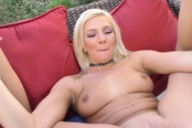 Blonde Babe Getting Down To Some Hot Action